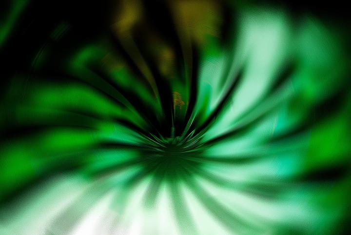 Green swirl graphic