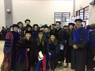 Our newly minted PhDs with their major advisors