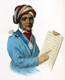 Painting of Sequoyah